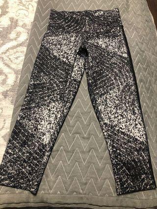 Adidas crop /capri leggings with side mesh detail