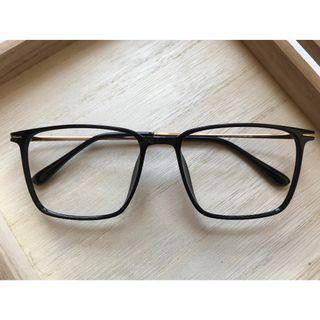 韓式大框方形黑色眼鏡(A58)