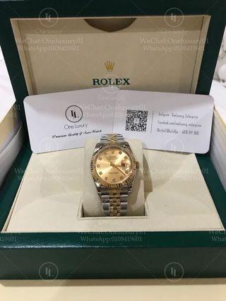 Rolex Datejust 36mm 18K Yellow Gold