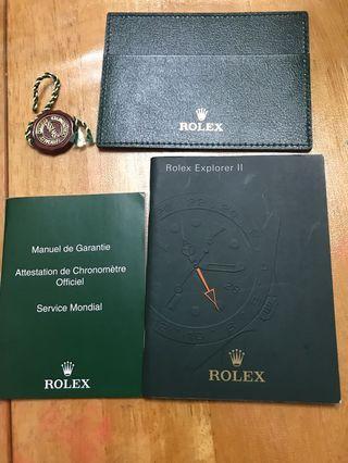 勞力士ROLEX Explorer II 216570書仔(年份2011年)