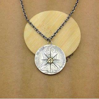 手制預訂)摩根幣 飛鳥射線 銀幣吊墜男純銀飾