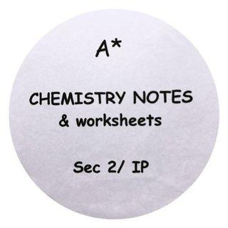 TLL Sec 2 Chemistry notes & worksheets