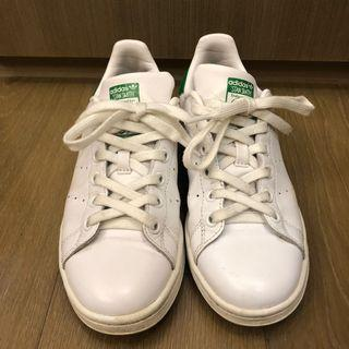 Adidas Original Stan Smith 基本經典綠色標款 二手