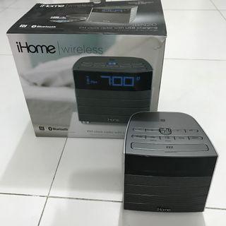 iHome iBN20 NFC Bluetooth FM Clock Radio with USB Charging