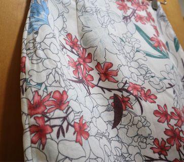 短裙 floral skirt