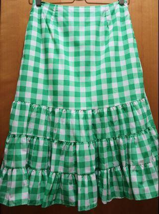 Skirt 半身裙 傘裙 格仔