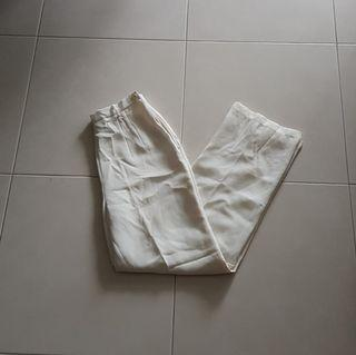 Vintage White Tailored High Waisted Trousers