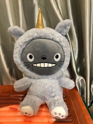 Totoro soft toy with blanket