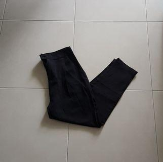 Cropped Black Dress Slacks