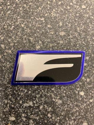 Lexus IS F sport metal emblem