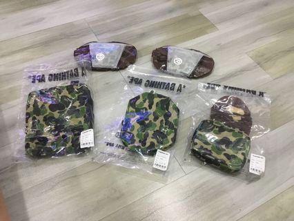 🚚 Bape abc camo mask and pouch