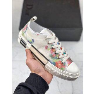 Dior x kaws floral low sneakers