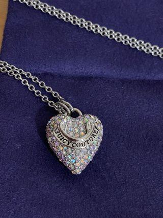Juicy Couture heart shape necklace 30cm 可調長項鍊