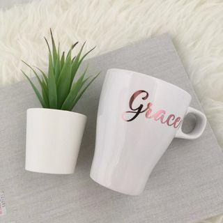 Personalised Name White Mug Personalised Name Cup White Ceramic Cup Customised Name Mug Coffee Cup Personalised Gift Mug Mother's Day gift present