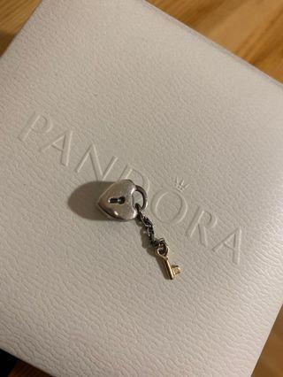 Pandora Charm 珠珠 兩顆 愛心款