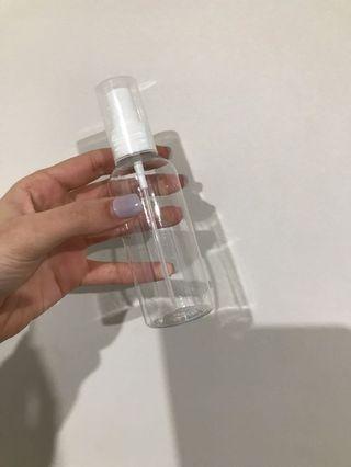 clear travel spray bottle