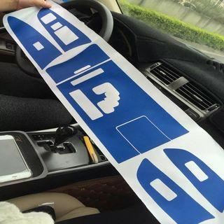 Is250 central console sticker 5D