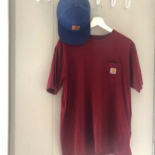 Carhart tshirt and SnapBack cap