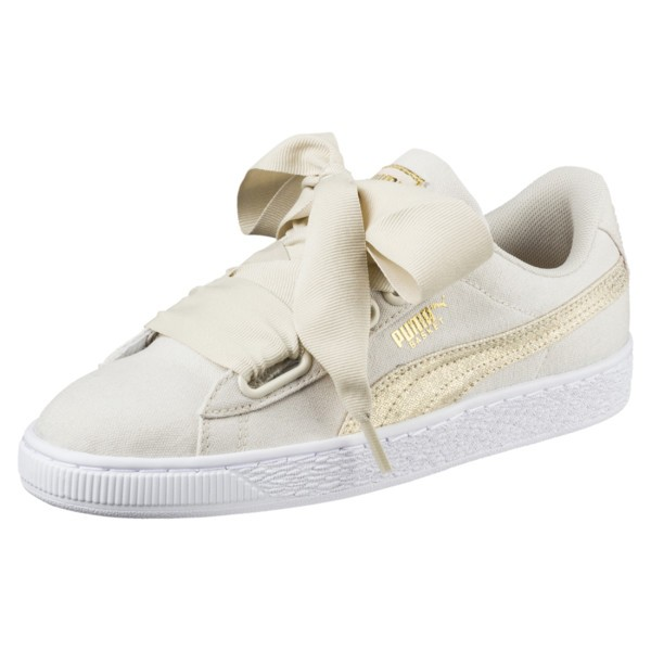 pretty nice a8ca3 5855c 🆕 Puma Basket Heart Gold