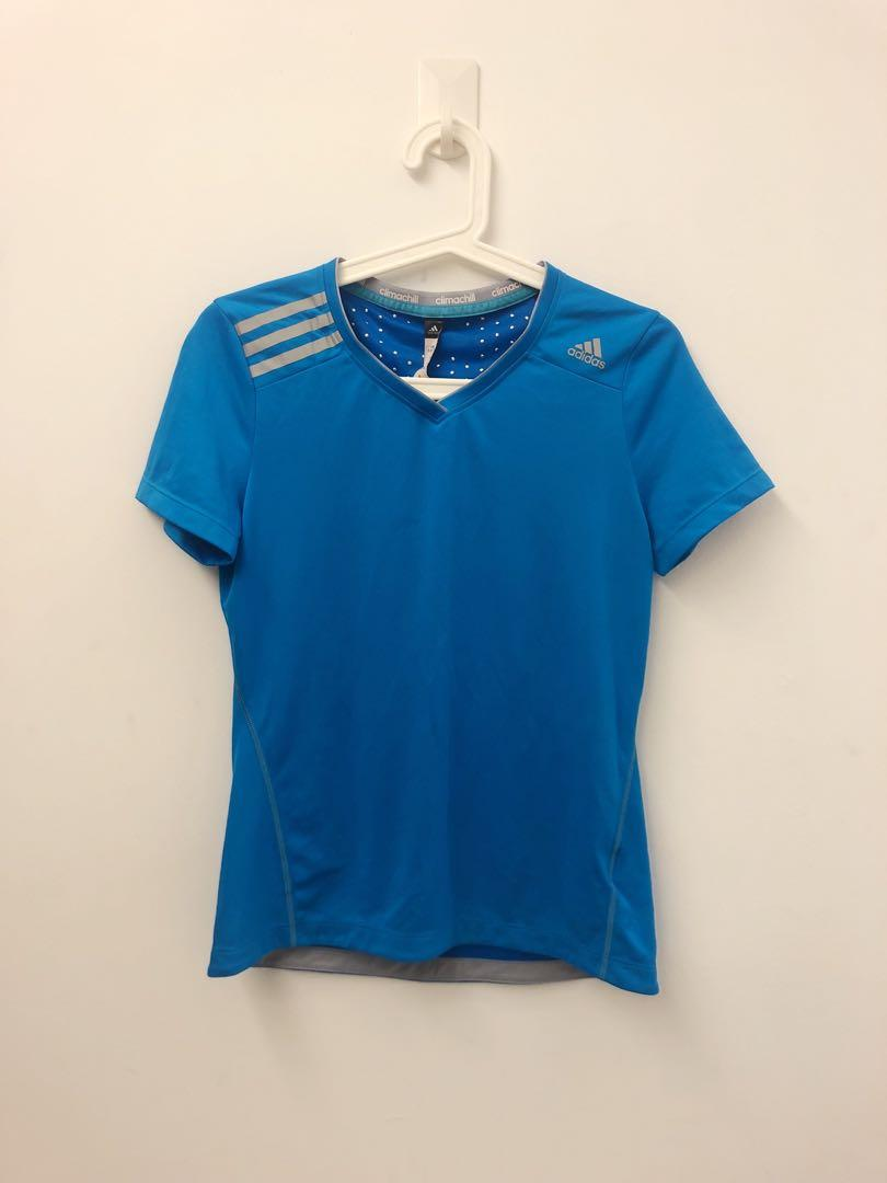 Adidas Climachill Top, Sports, Sports Apparel on Carousell