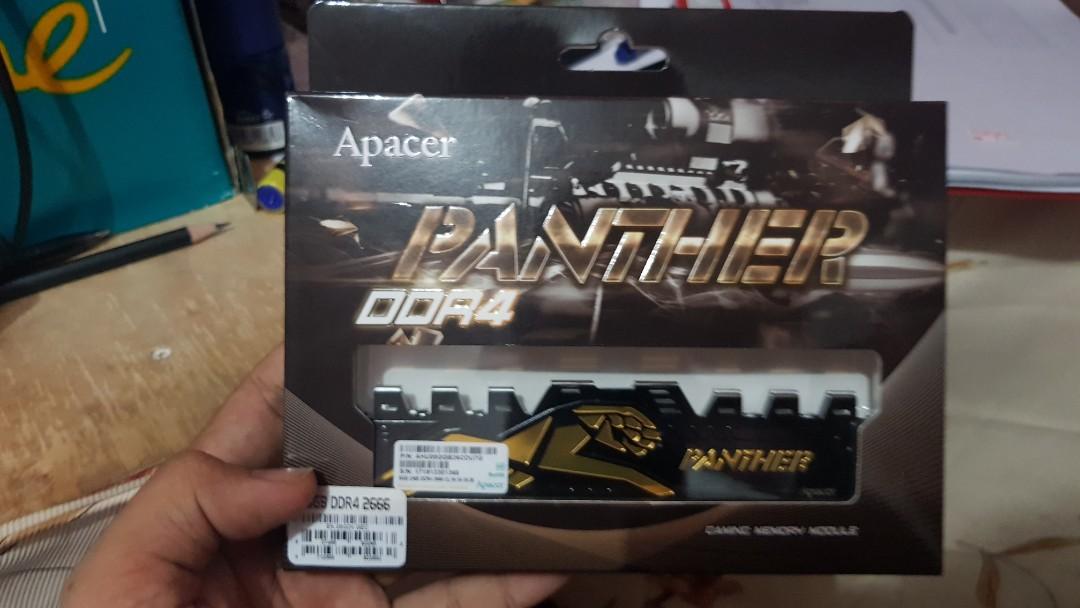 b1927941 APACER PANTHER 8GB DDR4-2400 GAMING PC RAM BLACK