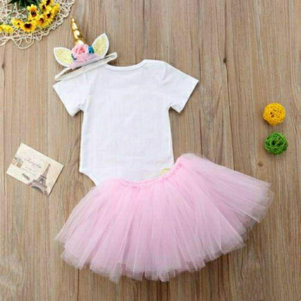 Baby Girl First Birthday Unicorn Romper [ Pre Order ]