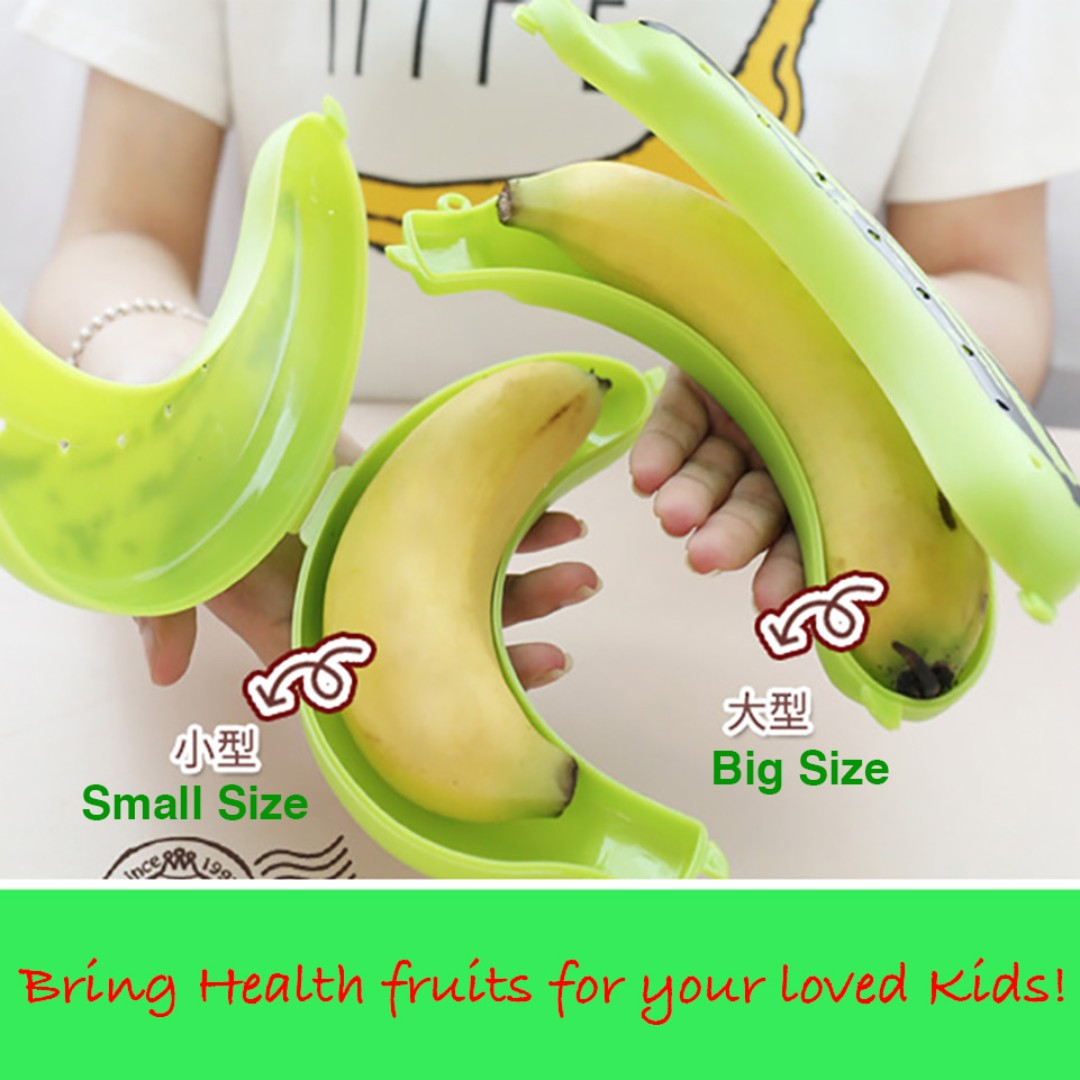 Banana Protector Box Holder Case Lunch Container Storage Box for Kids