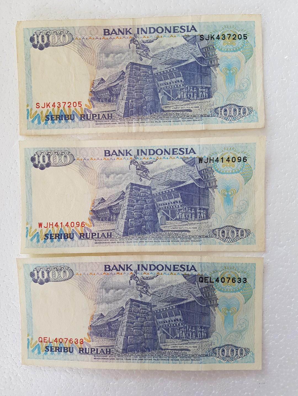 Bank Indonesia 1000 Seribu Rupiah Old