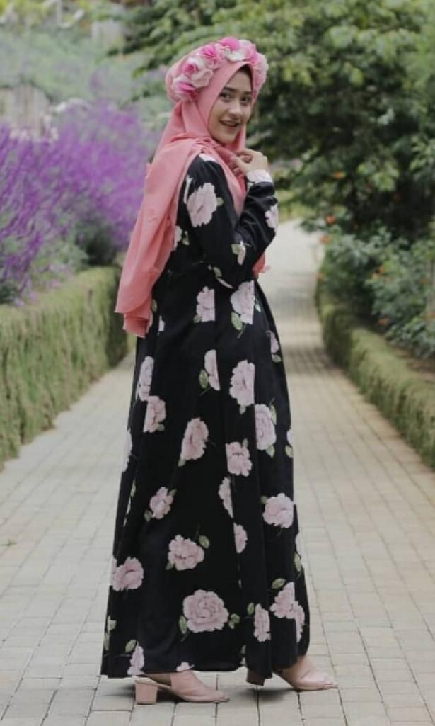 #bapau - Lidzni Flowery Dress (Black)
