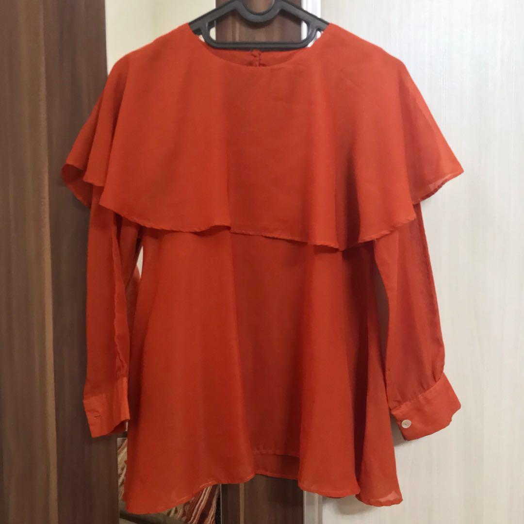 #BAPAU Baju Oren (no brand, jahit sendiri)