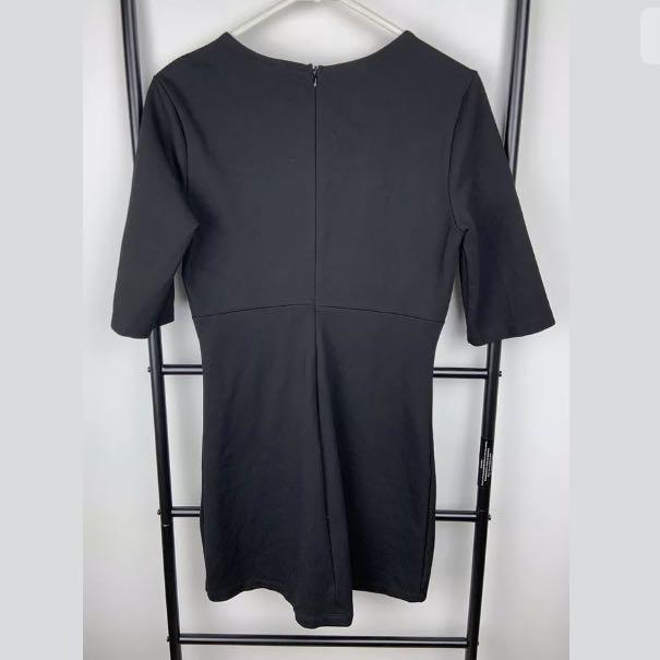 Bardot sz 10 black basic women short sleeves dress lace up party club fashion