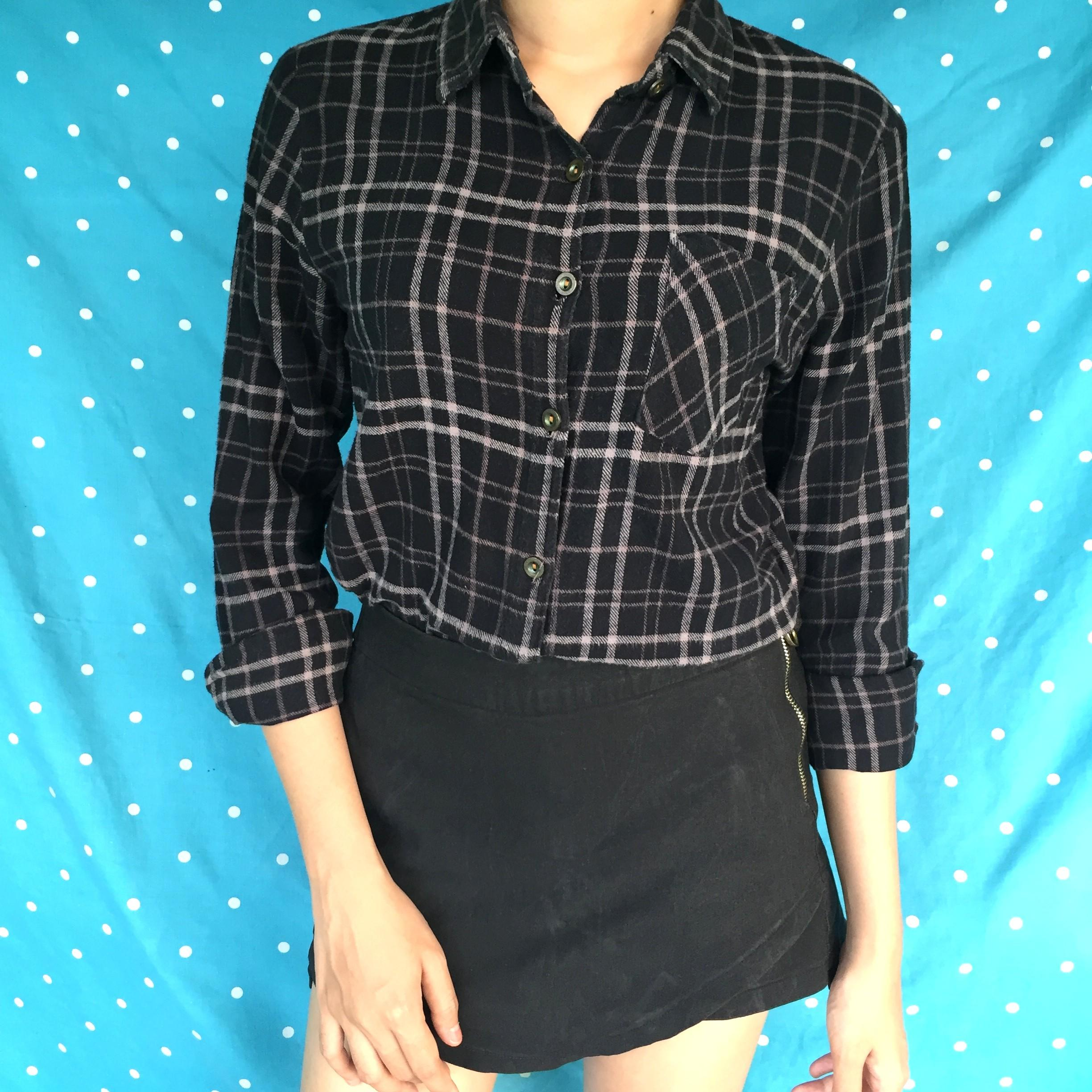 Black Flanel Top