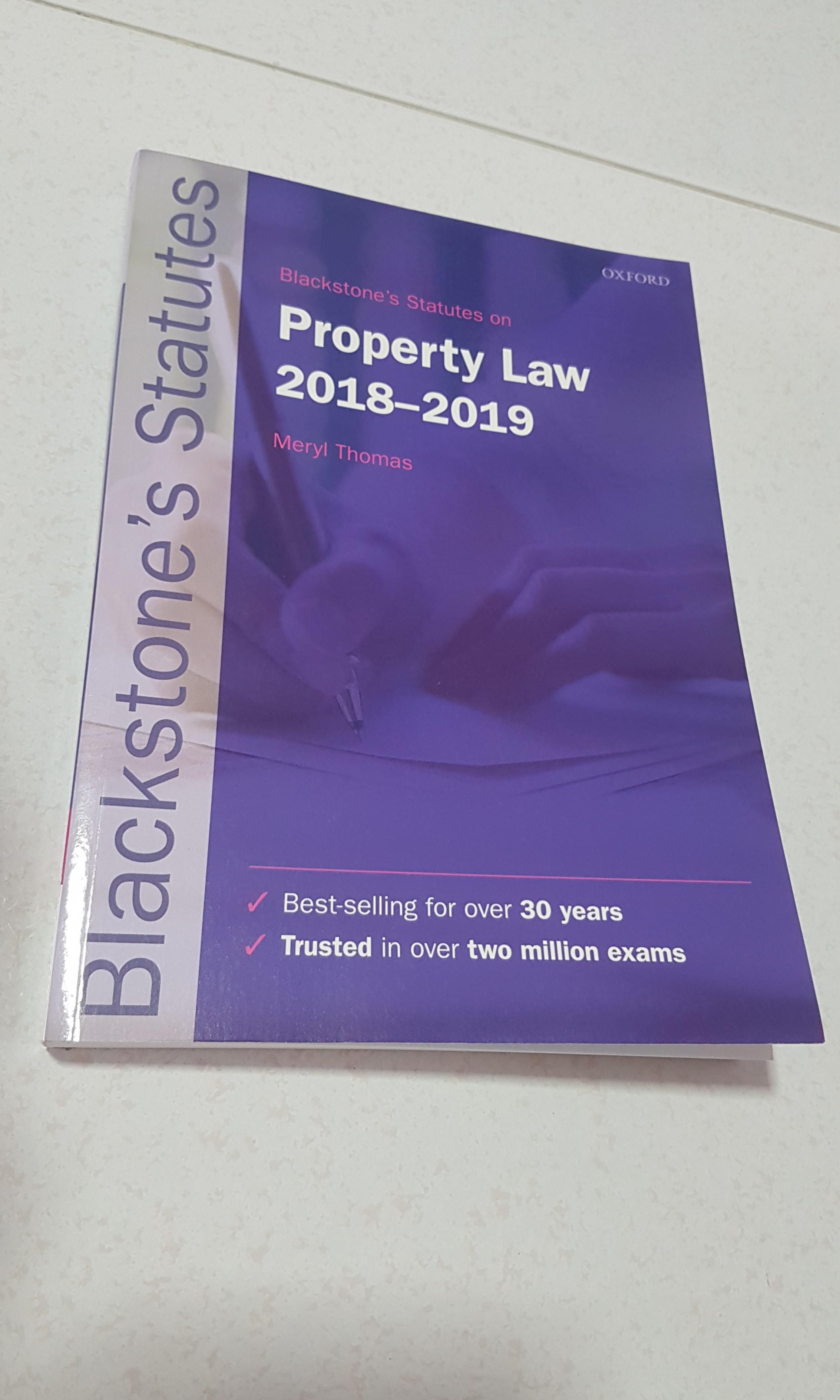 Blackstone's Statutes Property Law 2018-2019