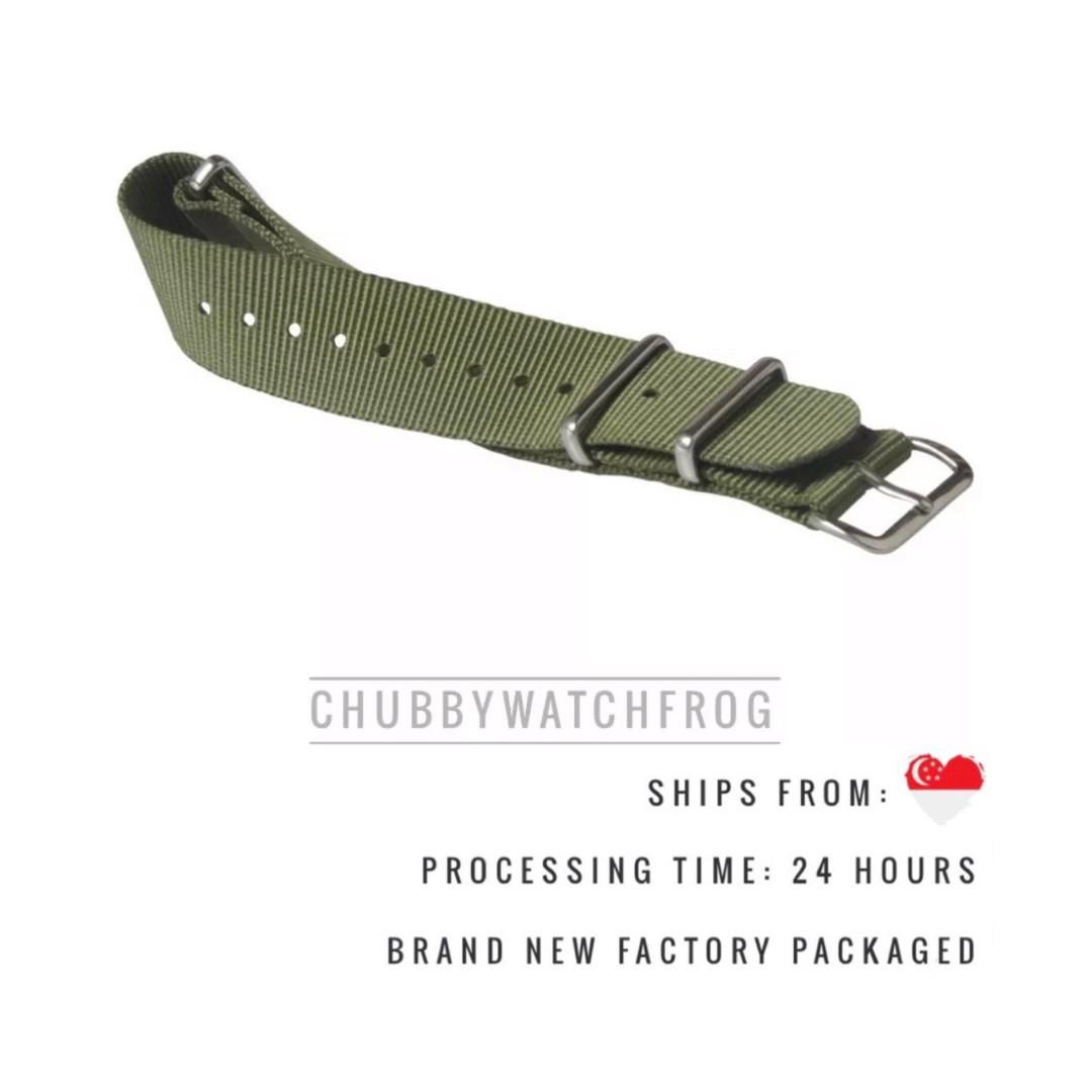 BRAND NEW PREMIUM NATO / ZULU WATCH STRAP 20MM - SHIPPED WITHIN SINGAPORE WITH DISCOUNT PRICING - DANIEL WELLINGTON DW SUITABLE