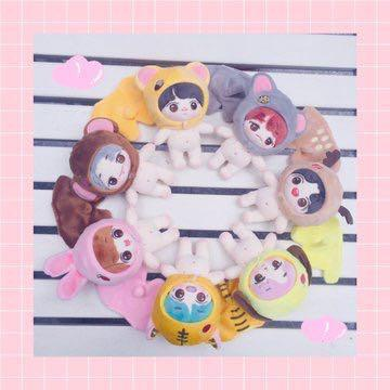 BTS 6th Anniversary Baby Animal Friends Dolls with animal suits