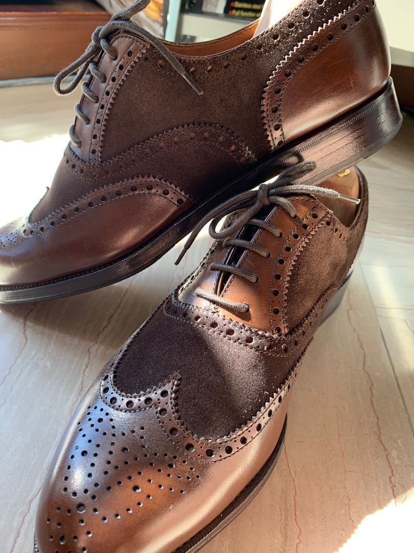 c54bbcdd0515f Carmina WINGTIP OXFORDS UK7.5 forest, Men's Fashion, Footwear, Formal Shoes  on Carousell