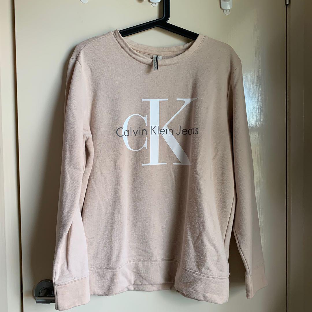 CK beige sweater