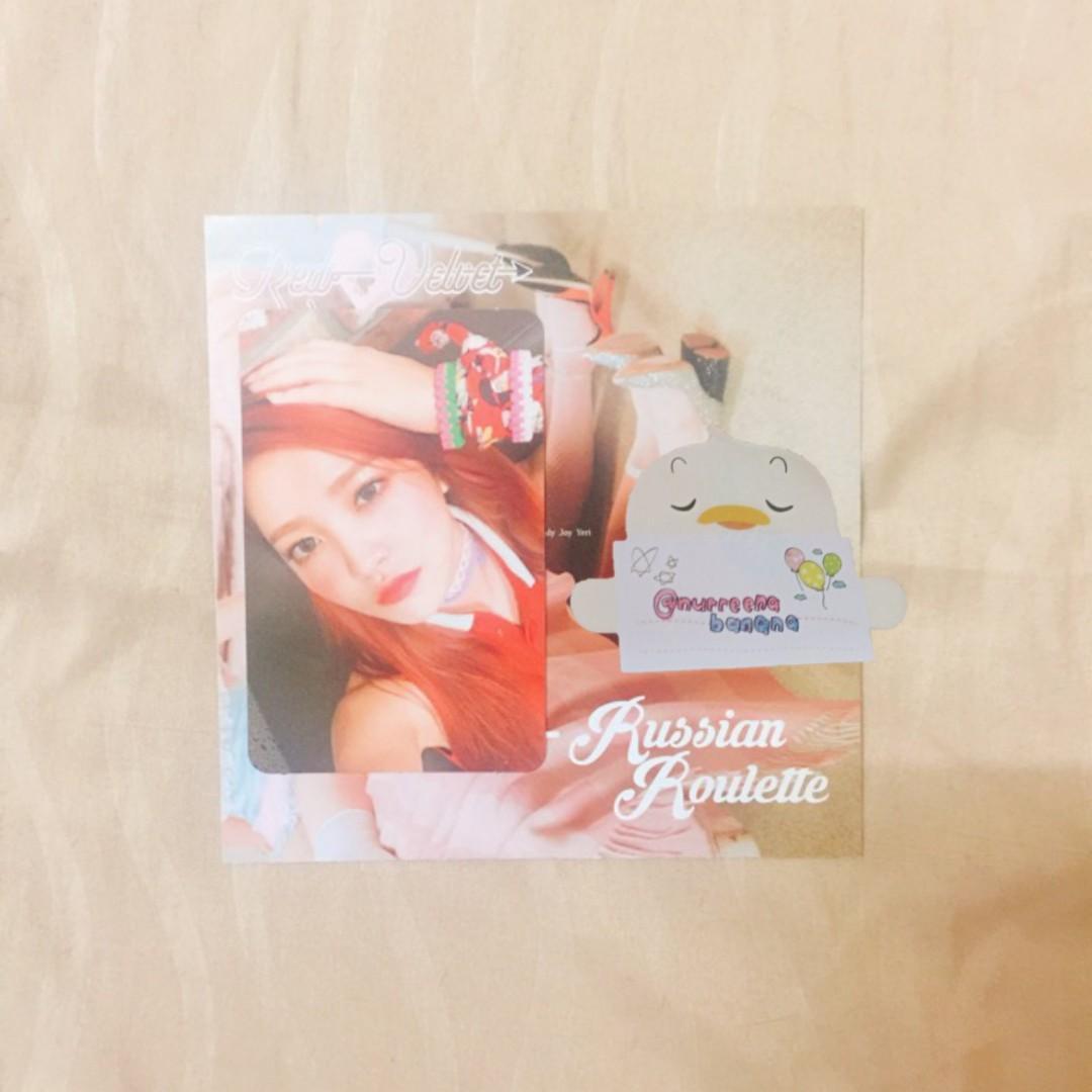 [CLEARANCE] RED VELVET Russian Roulette 3rd Mini Album