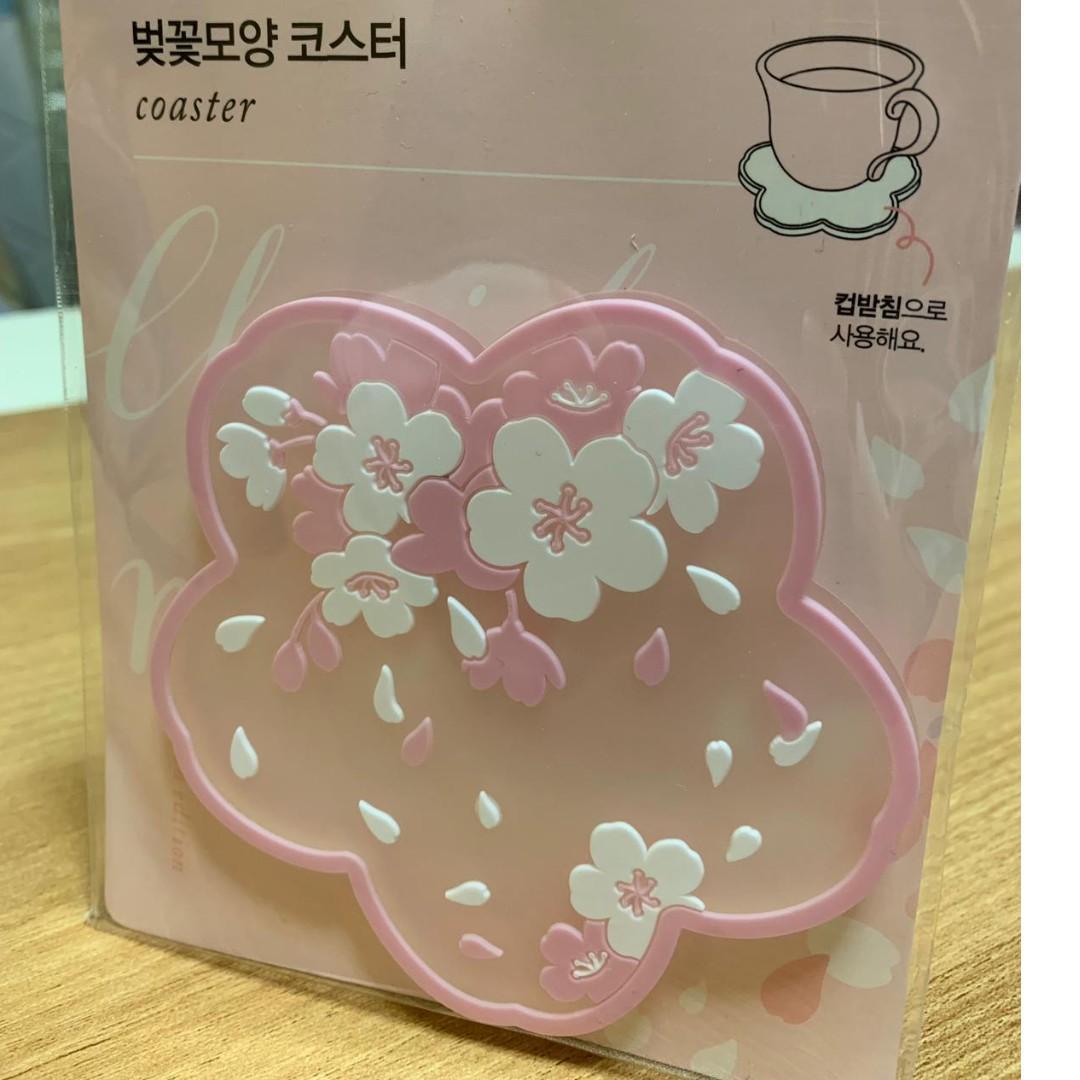 韓國Daiso櫻花杯墊 (現貨)