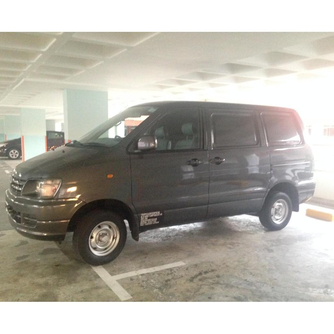 Diesel Toyota Liteace van rental - P-plates 18 and above welcome!