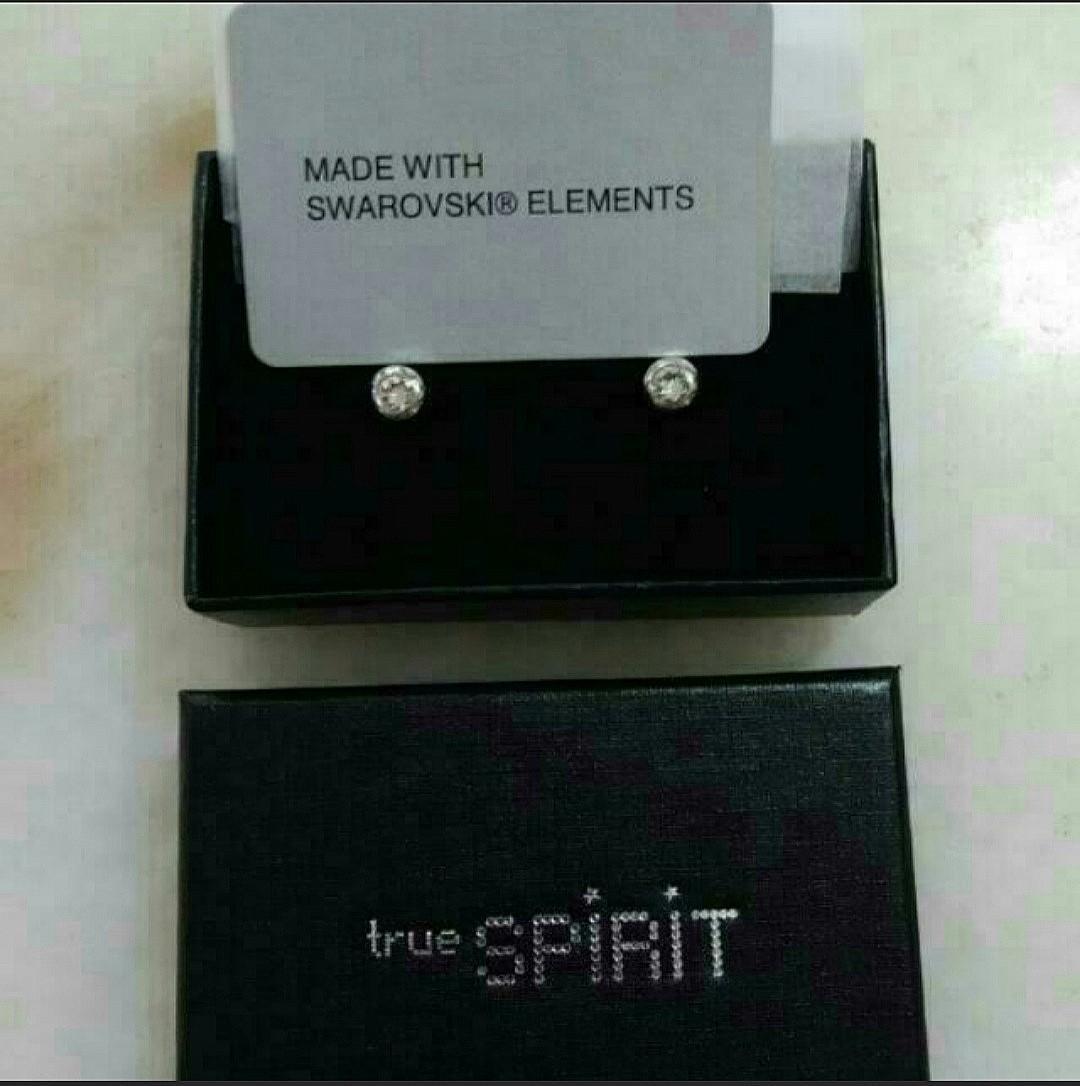 Earrings With Swarovski Elements, Diamond Studs Earrings