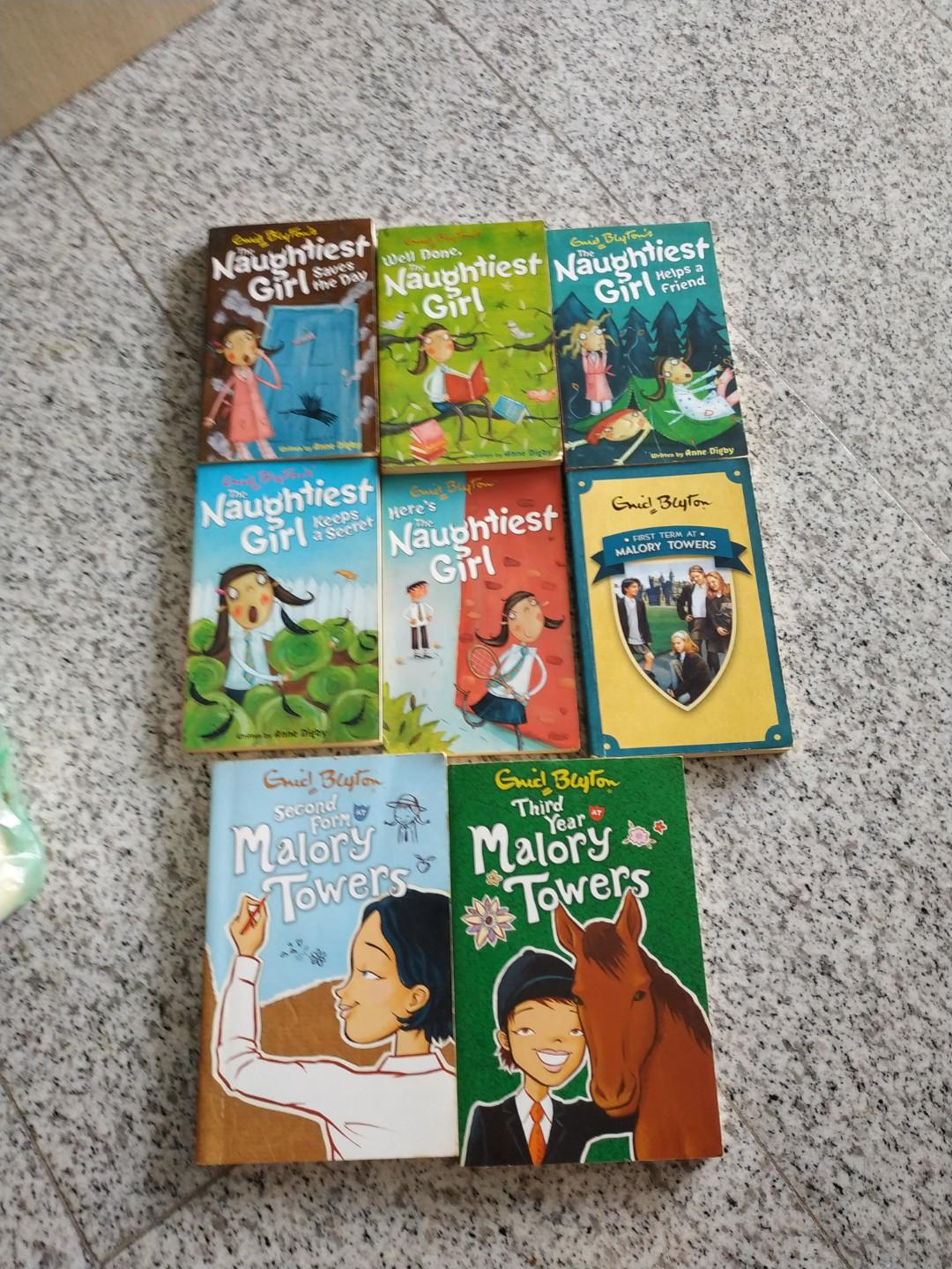 Enid Blyton Books. Naughtiest Girl & Malory Towers books