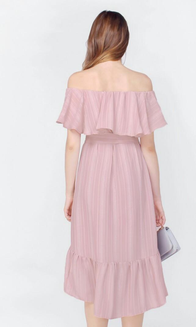 Fayth Mila Off Shoulder Midi Dress