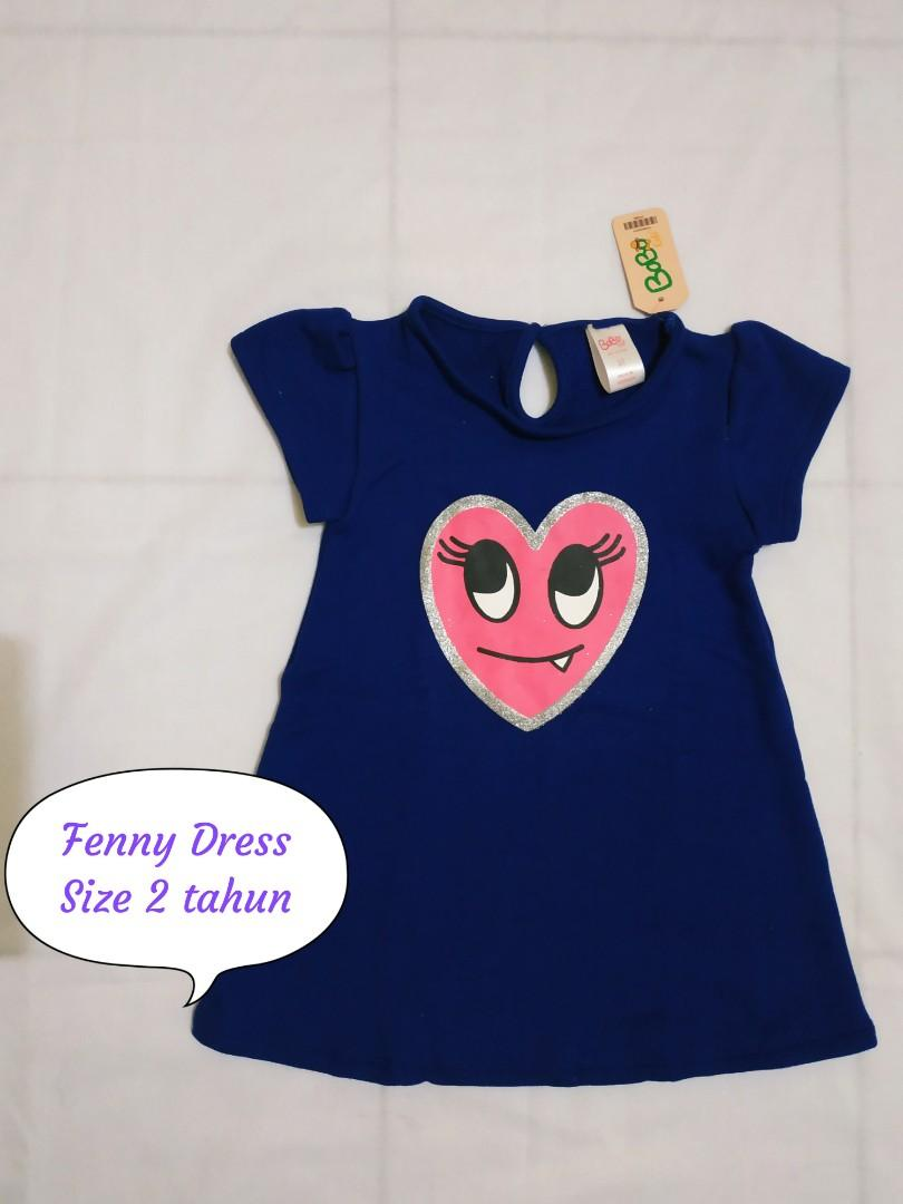 FENNY DRESS LOVE BLUE