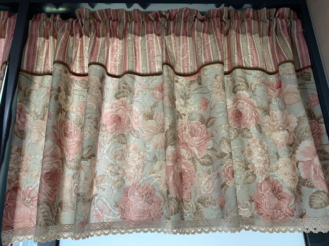 Flora Window Short Curtain