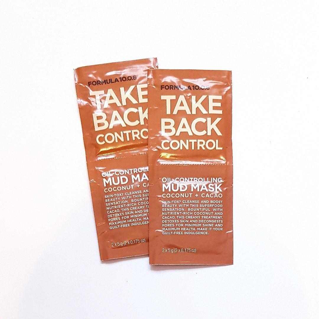 Formula 10.0.6 Take Back Control Oil-controlling Mud Mask Coconut & Cacao Skin Car Facial Mask