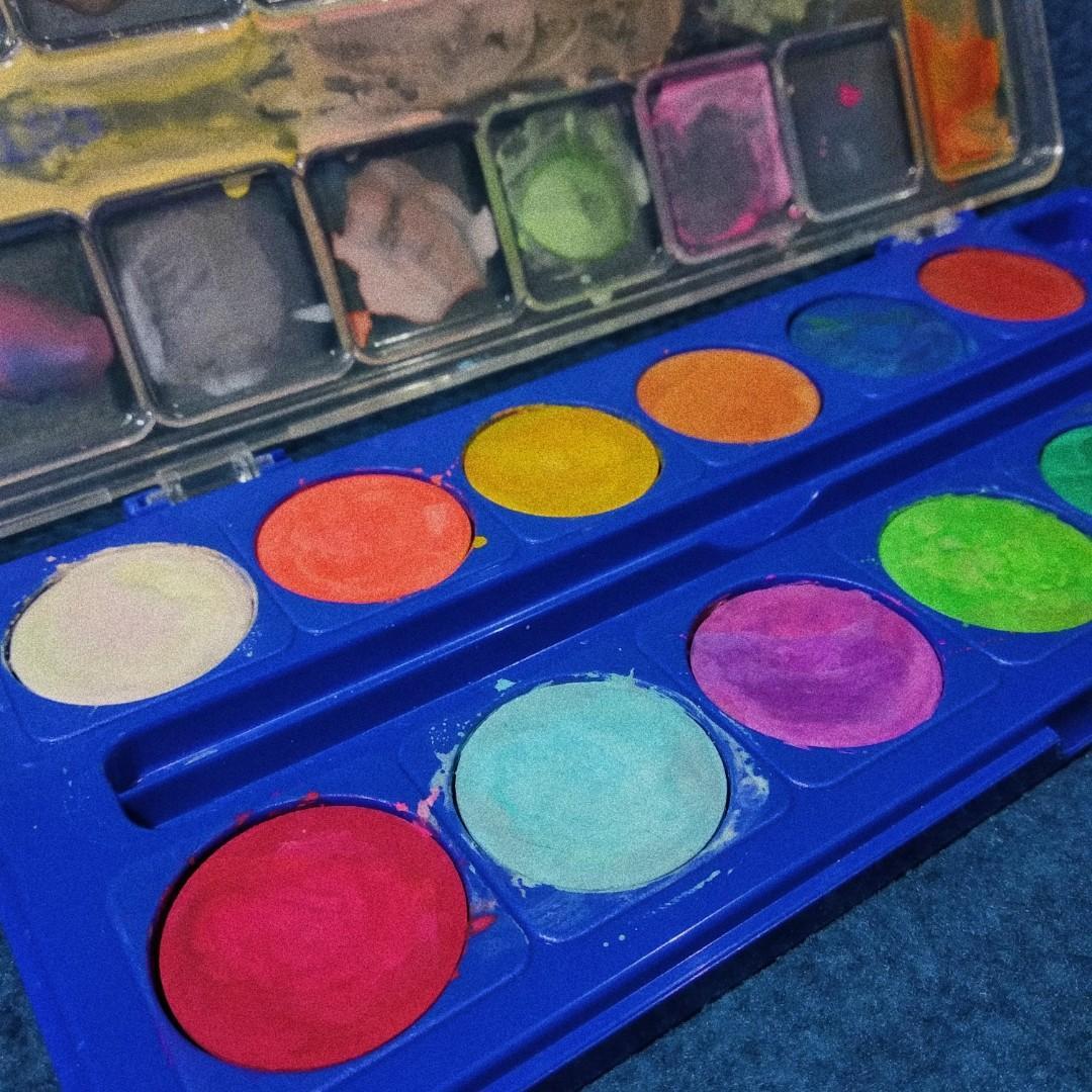 (+BONUS) Giotto Water Coloured Cake, 12 Colors
