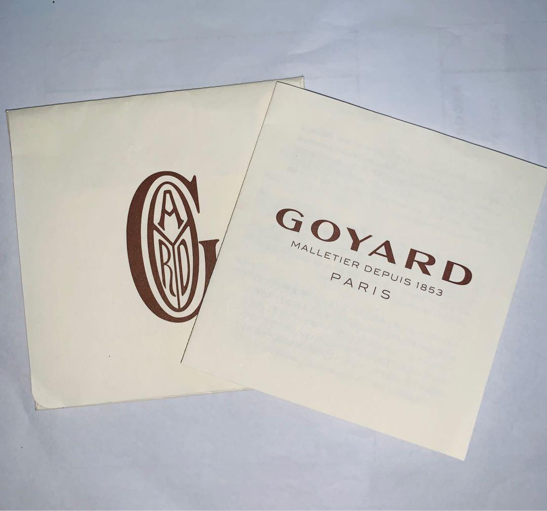 Goyard - Preloved - Portefeuille Moliere Noir Et Natural