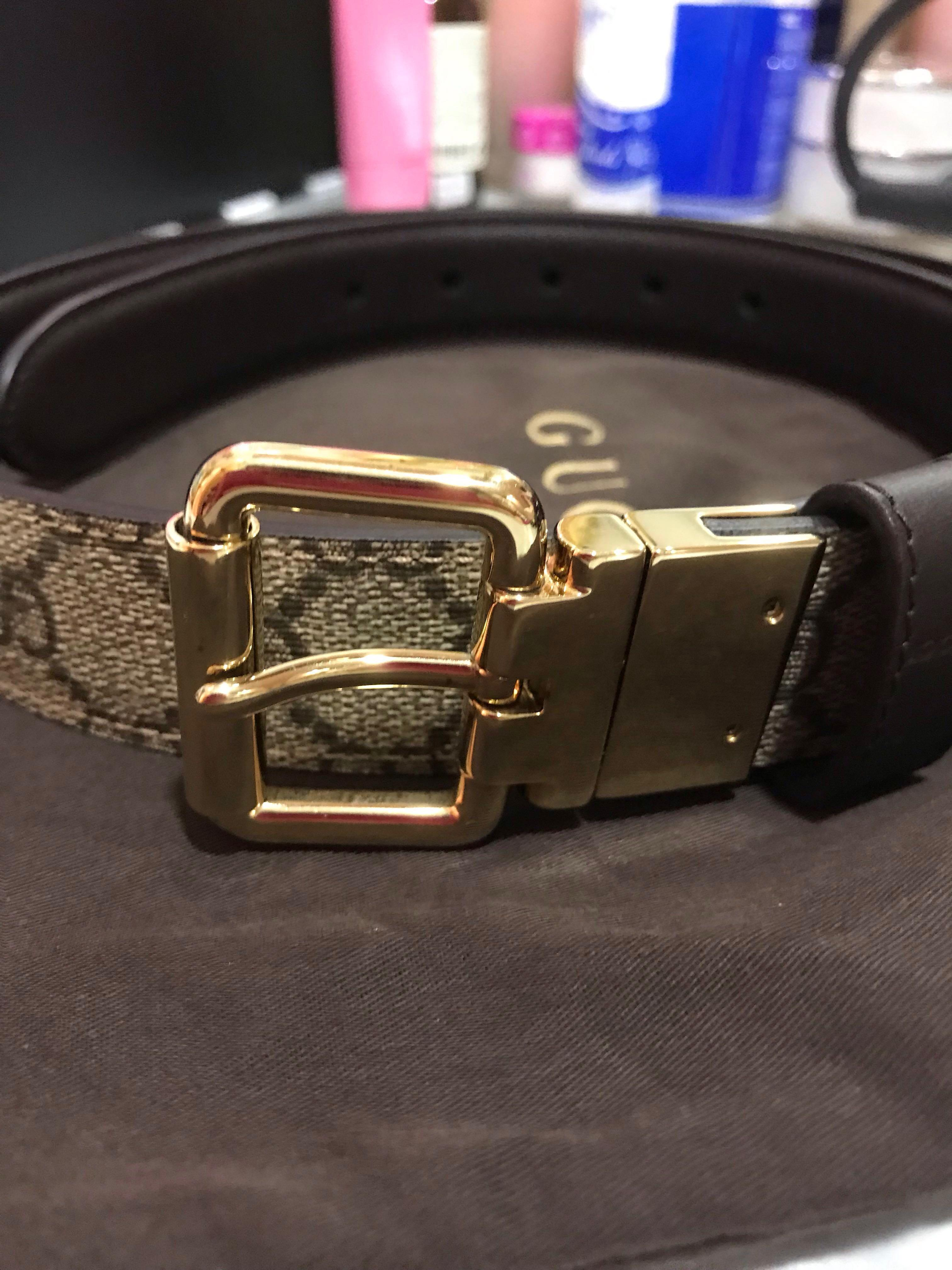 Gucci monogram reversible belt in size 85cm