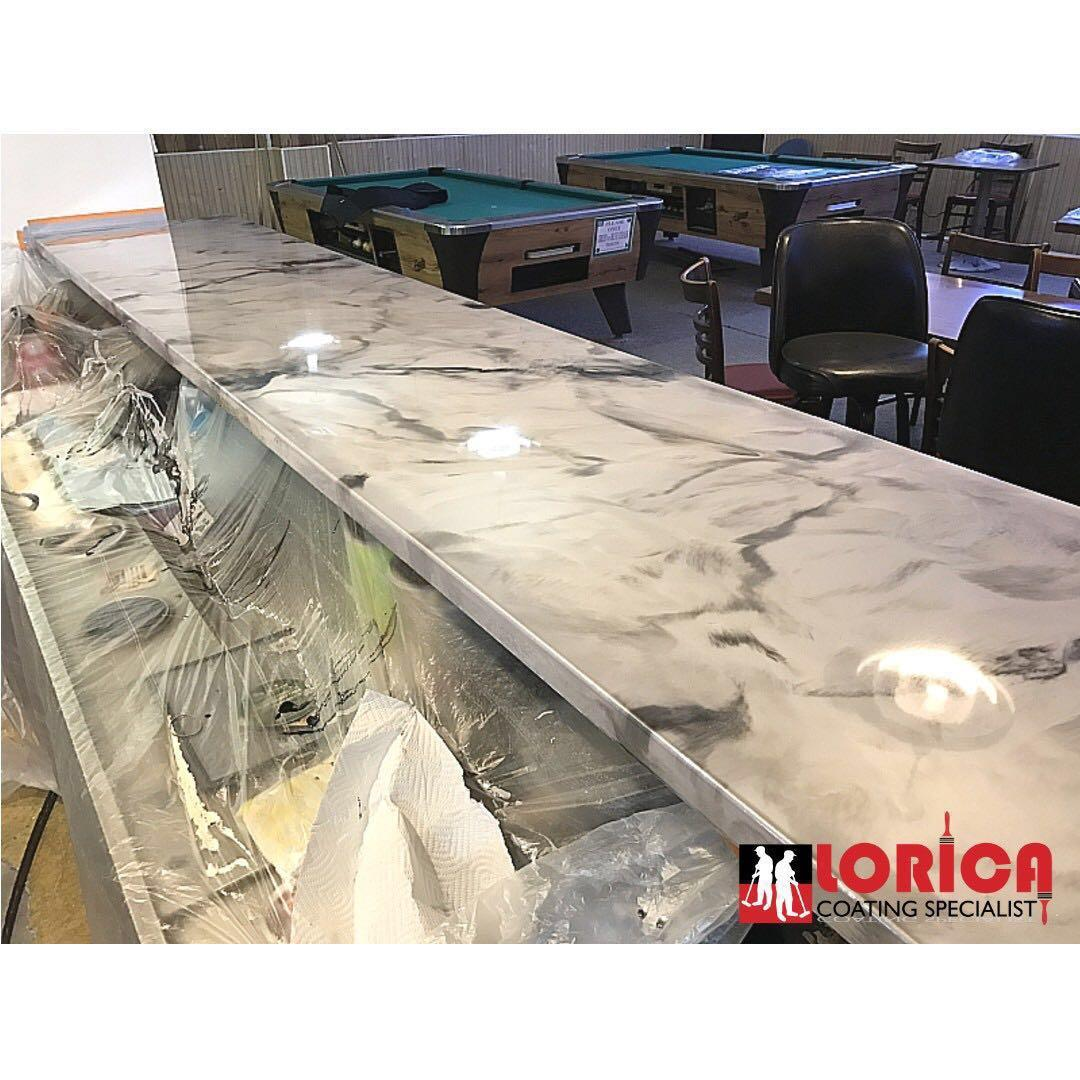 Kitchen Counter Top, Quartz Top, Solid Surface, Kitchen Cabinet, Epoxy Coating